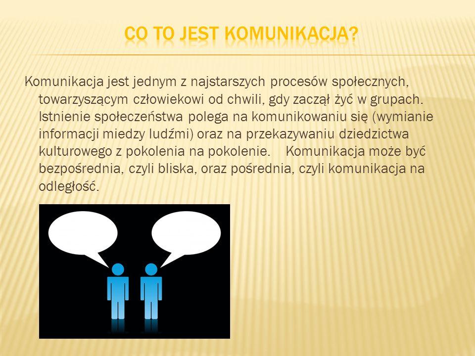 Komunikacja jest jednym z najstarszych procesów społecznych, towarzyszącym człowiekowi od chwili, gdy zaczął żyć w grupach. Istnienie społeczeństwa po