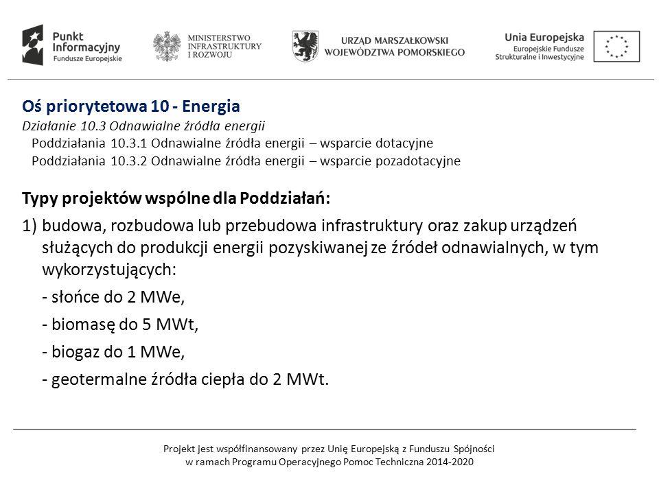 Projekt jest współfinansowany przez Unię Europejską z Funduszu Spójności w ramach Programu Operacyjnego Pomoc Techniczna 2014-2020 Oś priorytetowa 10
