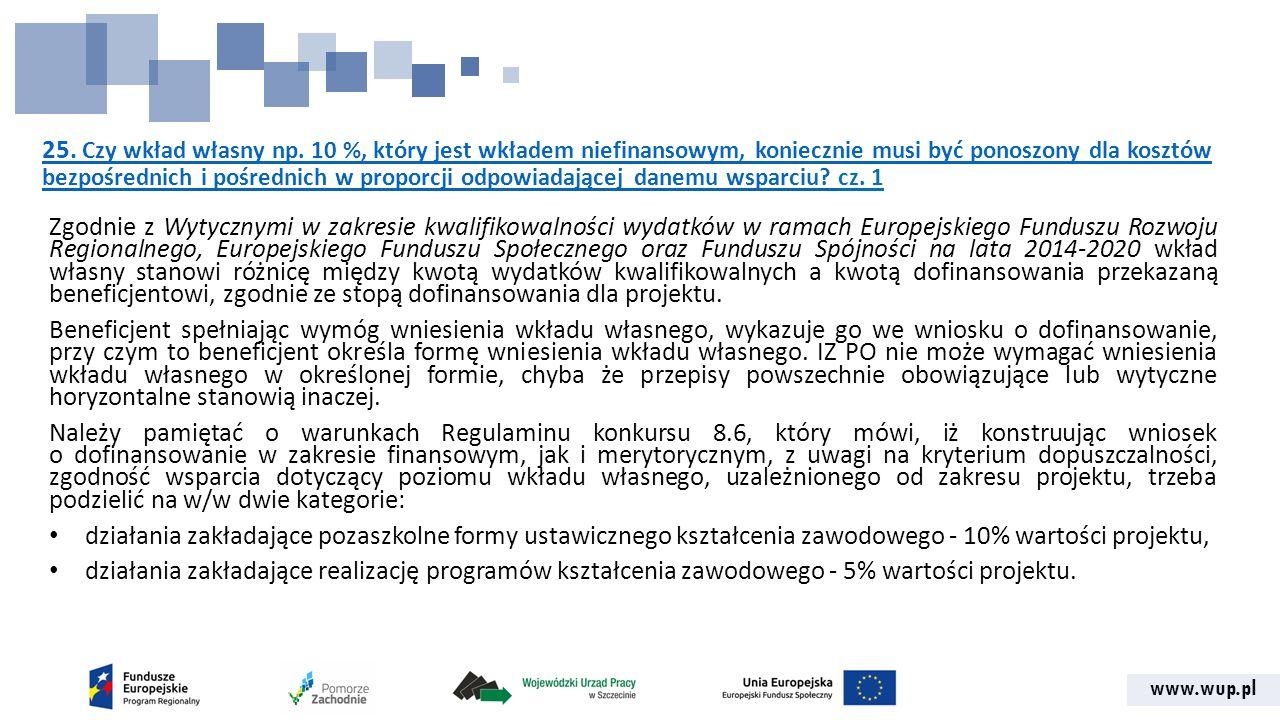 www.wup.pl 25. Czy wkład własny np.