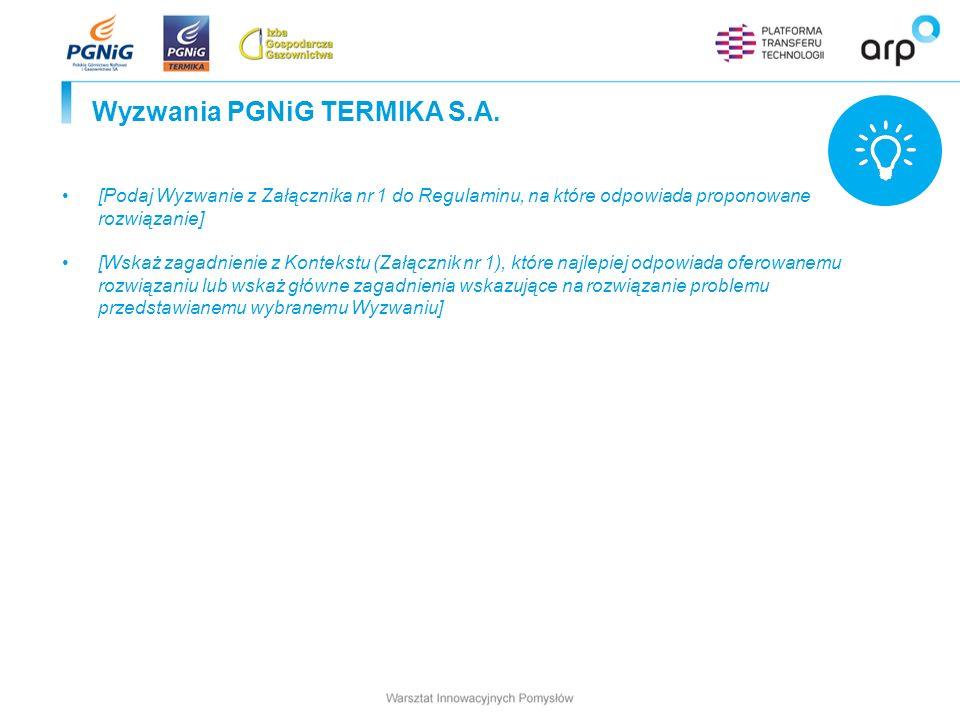 Wyzwania PGNiG TERMIKA S.A.