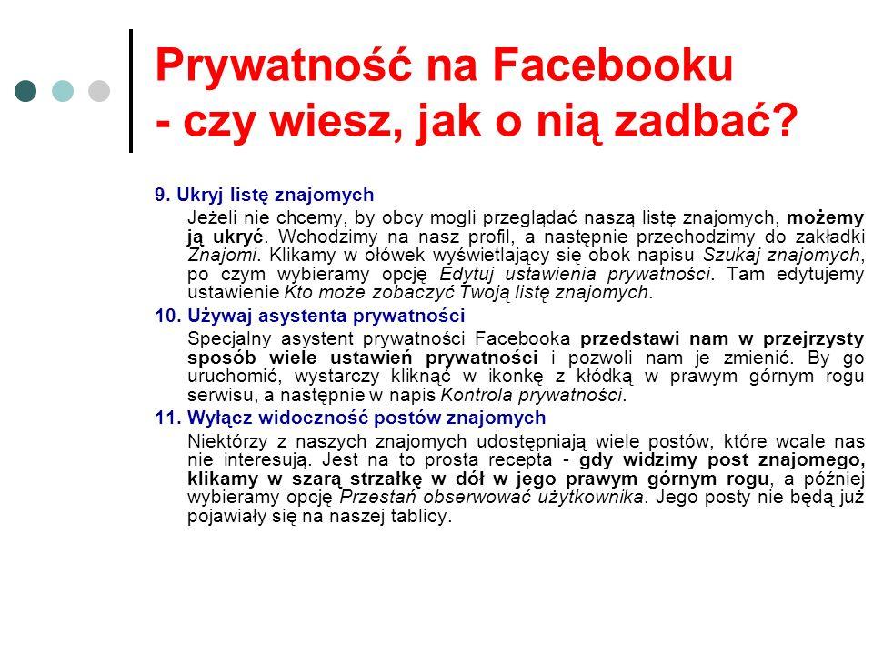 Prywatność na Facebooku - czy wiesz, jak o nią zadbać.