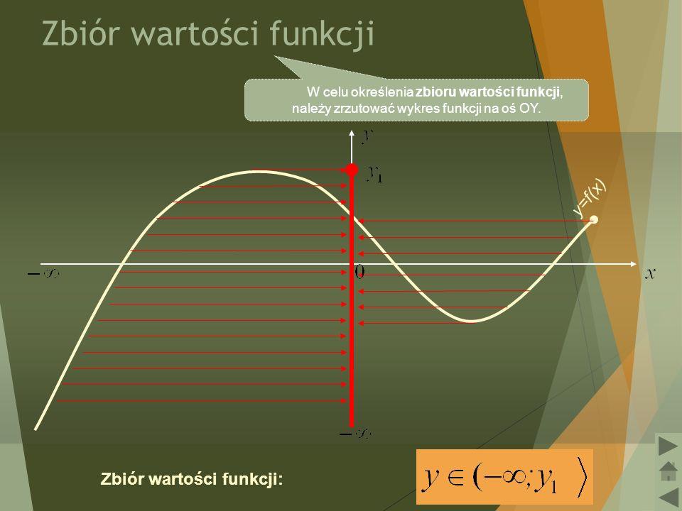 7 Miejsca zerowe funkcji Miejscem zerowym funkcji, nazywamy taki argument x, dla którego funkcja przyjmuje wartość 0.