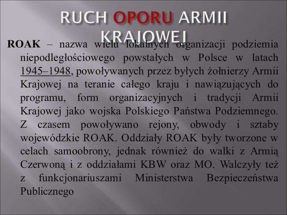 ROAK – nazwa wielu lokalnych organizacji podziemia niepodległościowego powstałych w Polsce w latach 1945–1948, powoływanych przez byłych żołnierzy Arm