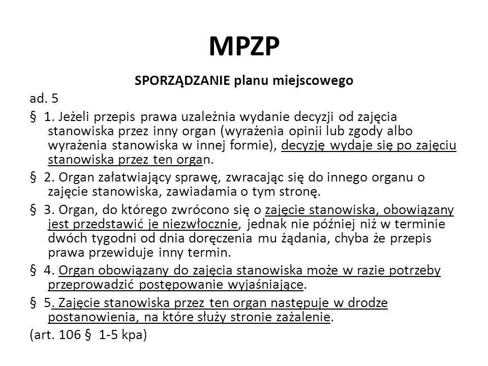 MPZP SPORZĄDZANIE planu miejscowego ad.