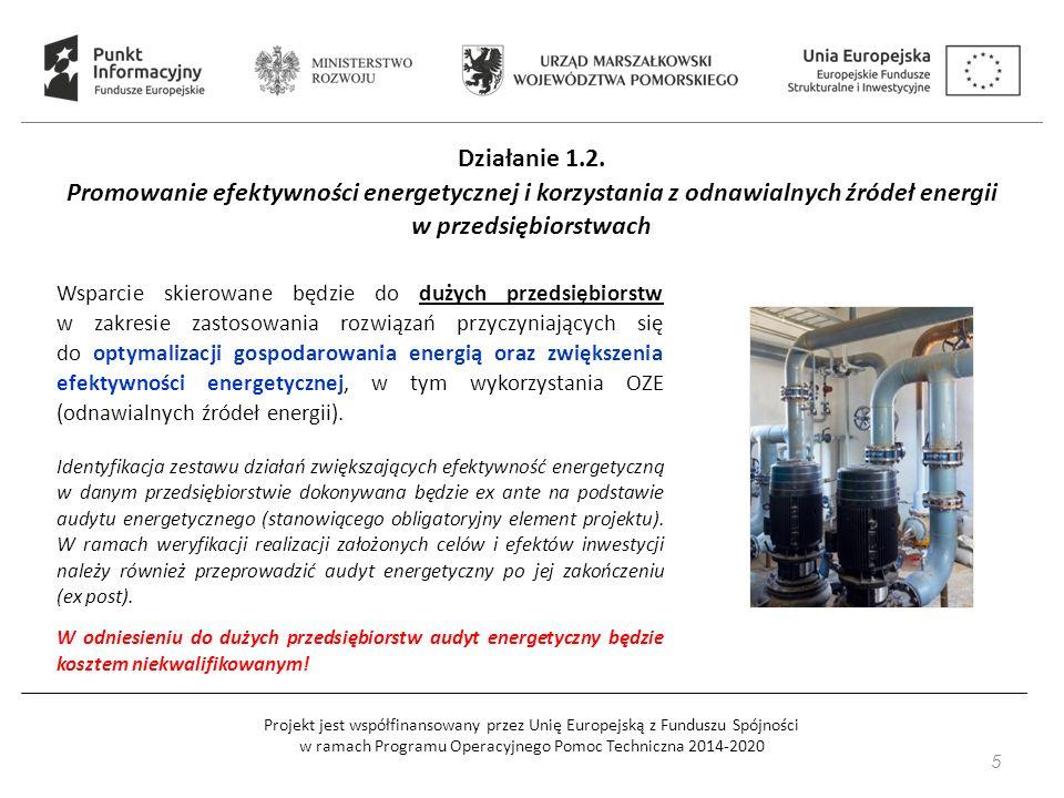 Projekt jest współfinansowany przez Unię Europejską z Funduszu Spójności w ramach Programu Operacyjnego Pomoc Techniczna 2014-2020 Działanie 1.2.