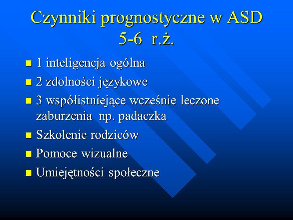 Czynniki prognostyczne w ASD 5-6 r.ż.