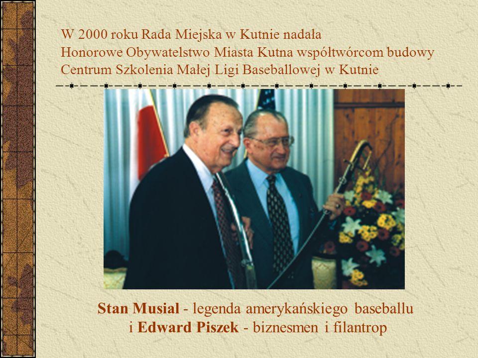W 2000 roku Rada Miejska w Kutnie nadała Honorowe Obywatelstwo Miasta Kutna współtwórcom budowy Centrum Szkolenia Małej Ligi Baseballowej w Kutnie Sta
