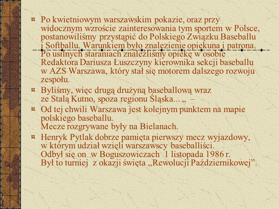 Po kwietniowym warszawskim pokazie, oraz przy widocznym wzroście zainteresowania tym sportem w Polsce, postanowiliśmy przystąpić do Polskiego Związku