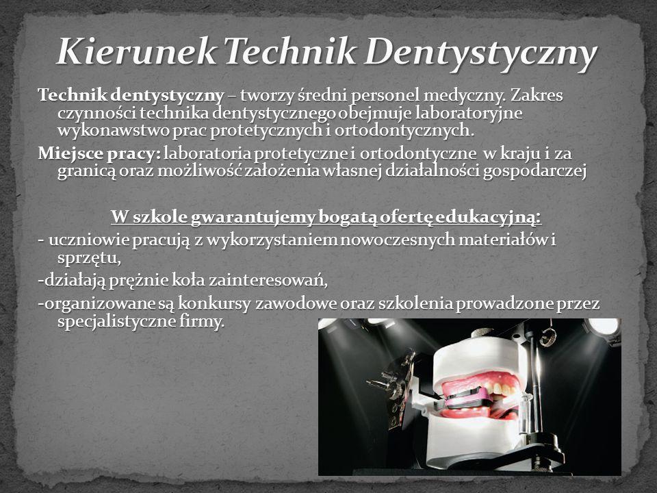 Technik dentystyczny – tworzy średni personel medyczny.