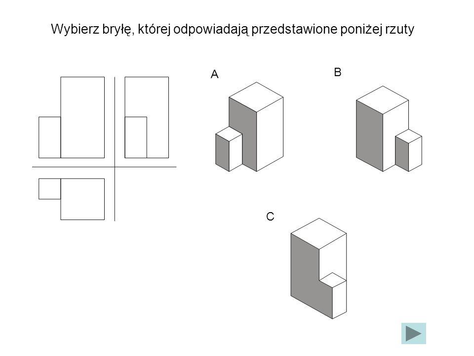 A B C Wybierz bryłę, której odpowiadają przedstawione poniżej rzuty