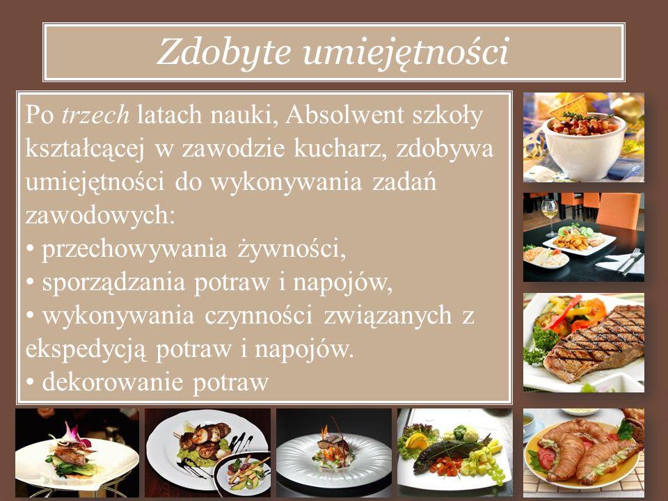 Nasza szkoła gwarantuje miejsce zajęć praktycznych - zajęcia odbywają się w warsztatach szkolnych przy ZSGH oraz w niektórych hotelach i restauracjach na terenie Tarnowskich Gór.