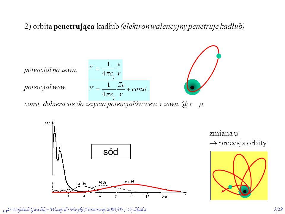 ﴀ Wojciech Gawlik – Wstęp do Fizyki Atomowej, 2004/05, Wykład 22/19 Atomy wieloelektronowe: niekulombowski potencjał (centralny)  kiedy.