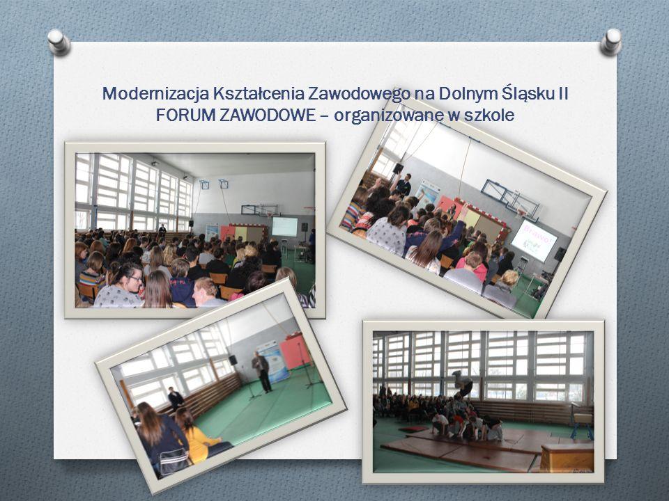 Modernizacja Kształcenia Zawodowego na Dolnym Śląsku II FORUM ZAWODOWE – organizowane w szkole