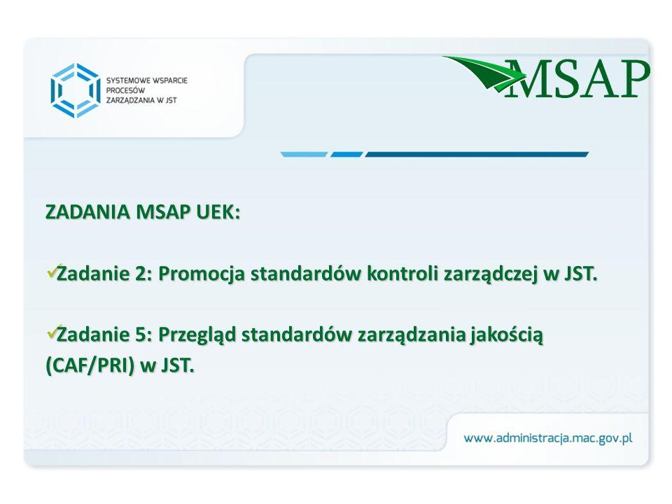 ZADANIA MSAP UEK: Zadanie 2: Promocja standardów kontroli zarządczej w JST.