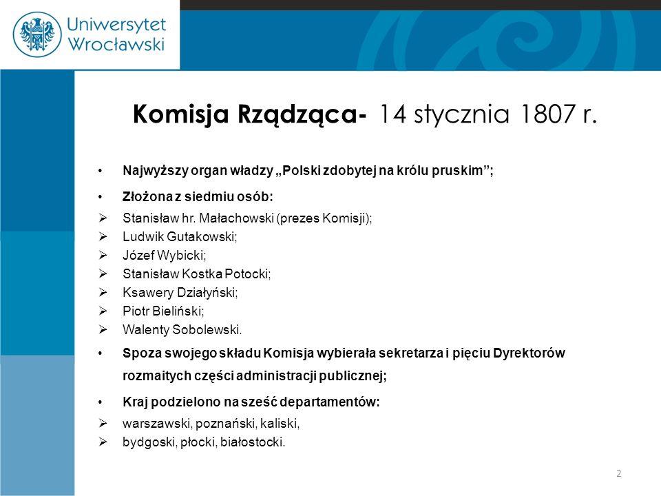 Komisja Rządząca- 14 stycznia 1807 r.