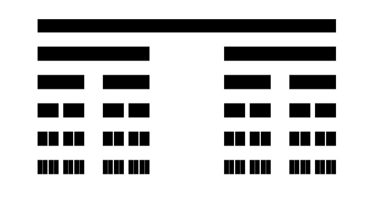 Dywan Sierpińskiego Krok pierwszy Najpierw rysujemy kwadrat, który dzielimy na dziewięć równych części i usuwamy środkowy kwadrat.