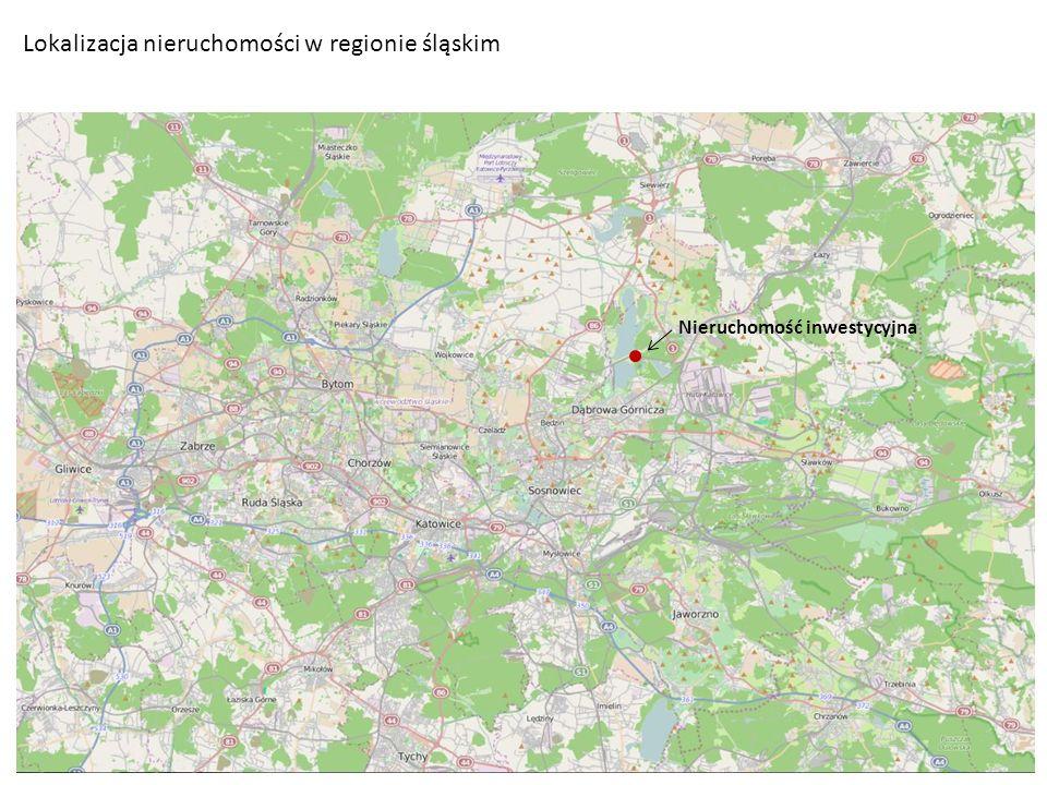 Lokalizacja nieruchomości w regionie śląskim Nieruchomość inwestycyjna