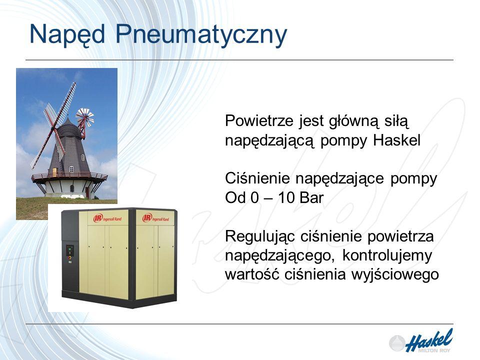 Podstawowe sekcje pompy Pompa składa się z 3 podstawowych sekcji: Sekcji napędu pneumatycznego Sekcji zaworu suwakowego Sekcja Hydrauliczna