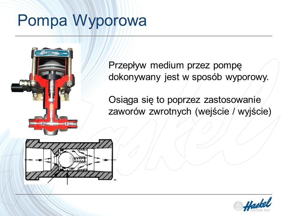 Pompa Tłokowa Tłok pompy poruszą się w górę i w dół aby spowodować napływ medium do komory/korpusu pompy a następnie aby wypchnąć go z niego.
