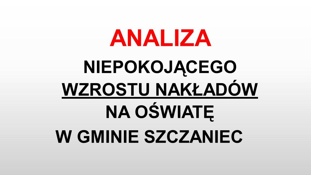 Oświata w Gminie Szczaniec 2016r.