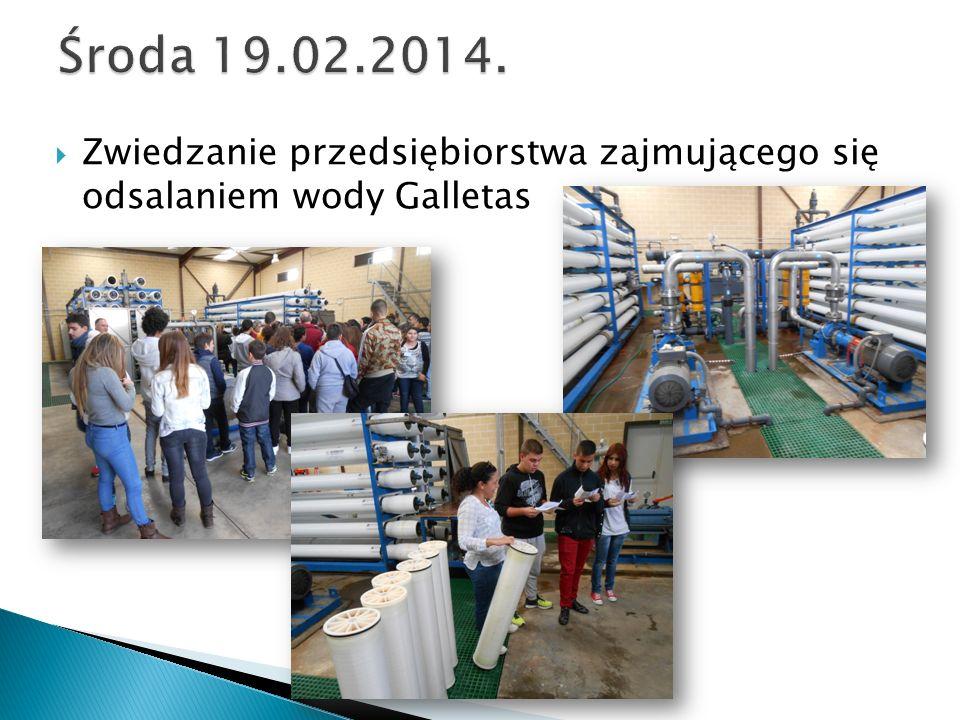  Zwiedzanie przedsiębiorstwa zajmującego się odsalaniem wody Galletas