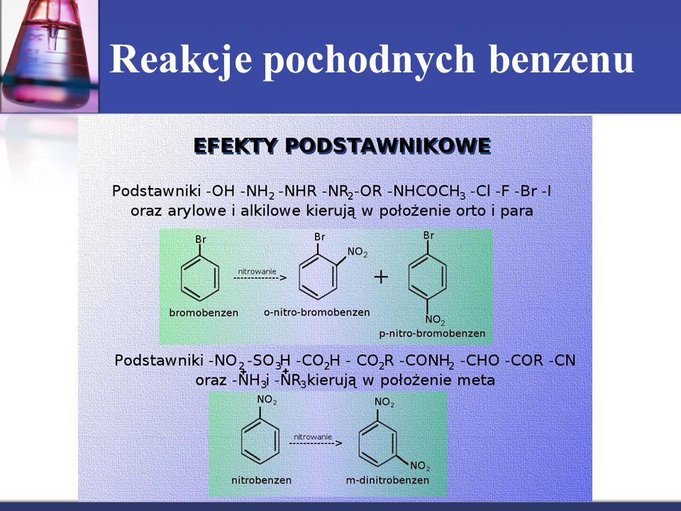 Reakcje pochodnych benzenu