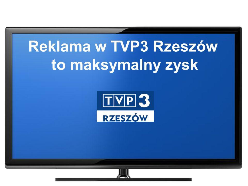 Reklama w TVP3 Rzeszów to maksymalny zysk