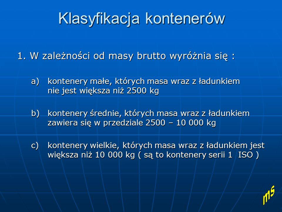 Klasyfikacja kontenerów 2.