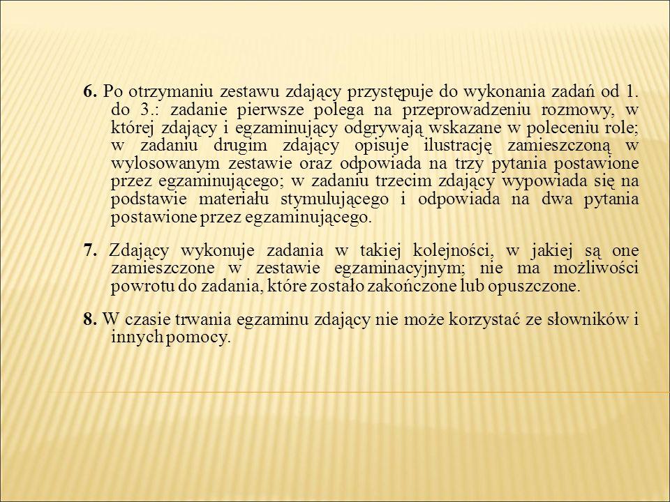 CZAS TRWANIA CZĘŚCI PISEMNEJ EGZAMINU MATURALNEGO Z WYBRANYCH PRZEDMIOTÓW PrzedmiotyArkusze Czas trwania (min) A1 (standard) A2 (autyzm) A3 (dla słabosłyszących) A7 (dla niesłyszących) Język polski Poziom podstawowy 170do 200 Matematyka Poziom podstawowy 170do 200 Języki obce nowożytne Poziom podstawowy 120do 150 2a*: do 150 2b*: do 130 120 Historia, biologia Poziom rozszerzony 180do 210 2a.