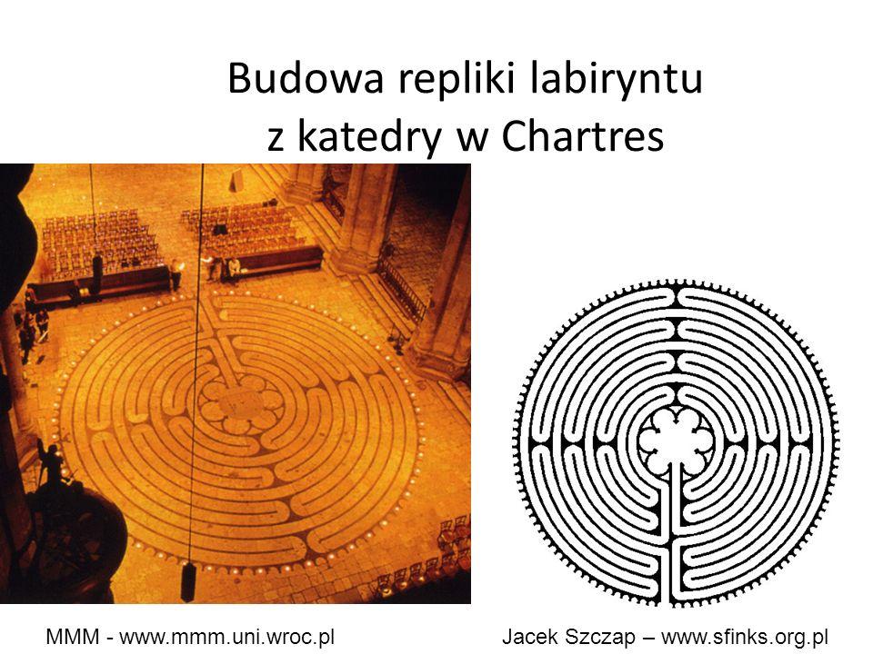 MMM - www.mmm.uni.wroc.pl Jacek Szczap – www.sfinks.org.pl Budowa repliki labiryntu z katedry w Chartres