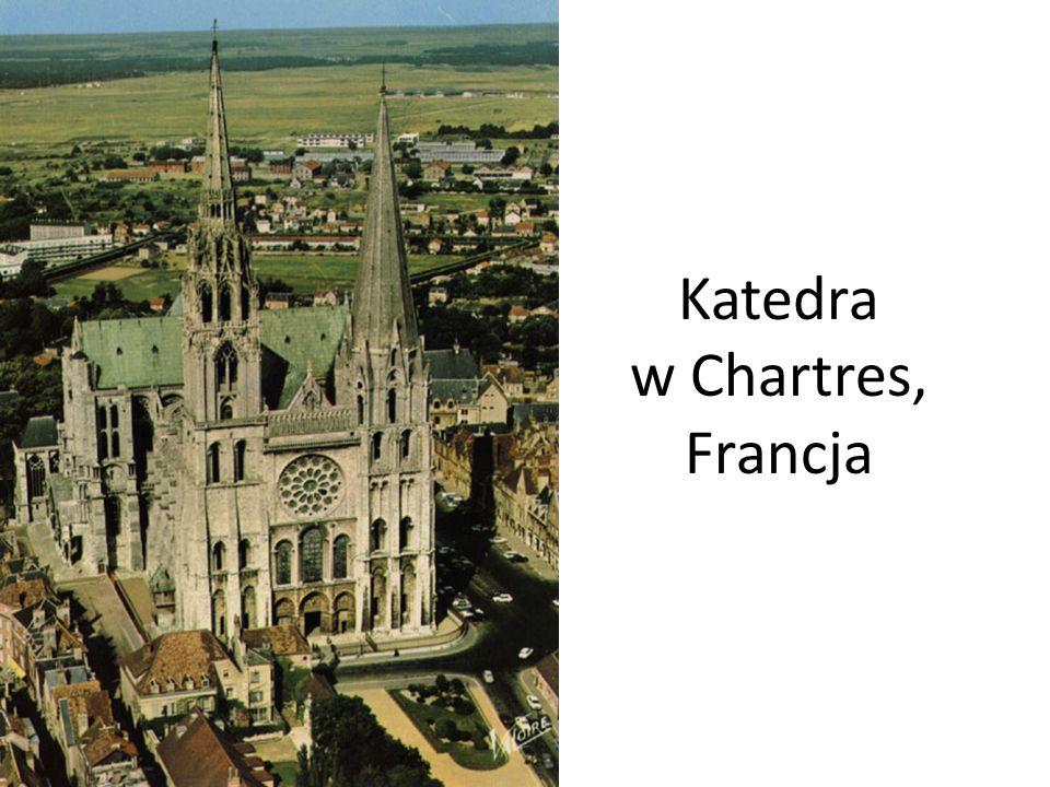 Znaczą część nawy głównej zajmuje labirynt zbudowany w XIII wieku.