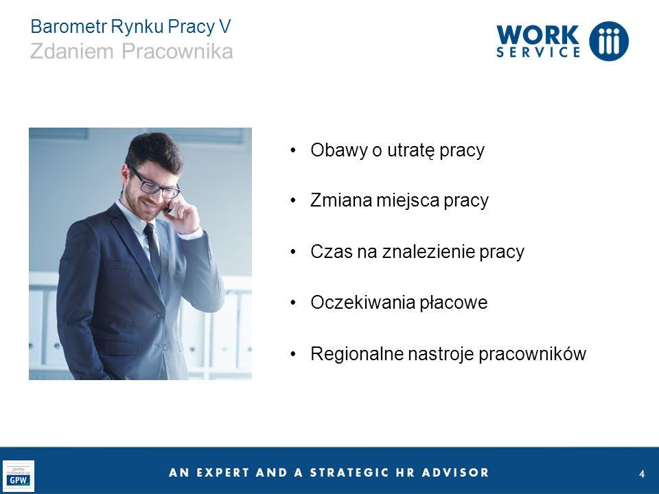 25 Barometr Rynku Pracy V Podsumowanie Rynek Pracownika w Polsce - Work Service już w 2014 roku o tym mówił Dobra sytuacja na rynku pracy przekłada się na coraz silniejszą pozycję pracowników i ich pozytywne nastroje Pracodawcy zapowiadają, że będzie rekordowo dużo rekrutacji W 2016 roku pracodawcy zaczną odpowiadać na potrzeby pracowników i presję płacową, oferując wyższe wynagrodzenie Podnoszeni jakości pracy w Polsce
