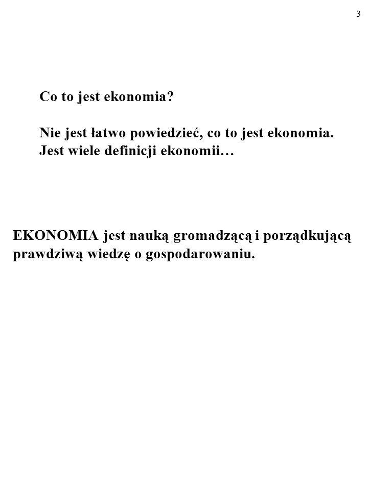 Co to jest ekonomia? Nie jest łatwo powiedzieć, co to jest ekonomia. Jest wiele definicji ekonomii… 2