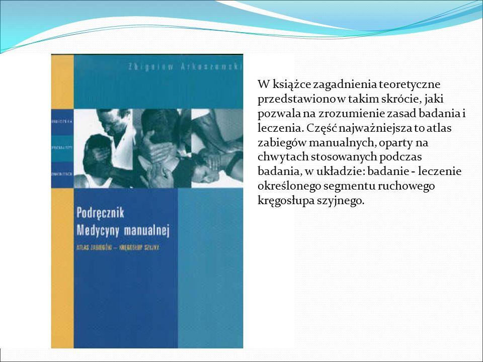 W książce zagadnienia teoretyczne przedstawiono w takim skrócie, jaki pozwala na zrozumienie zasad badania i leczenia. Część najważniejsza to atlas za