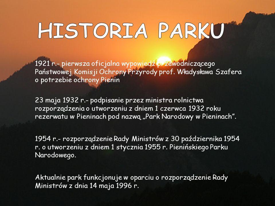 Najnowsza lista zwierząt żyjących na obszarze Pienińskiego Parku Narodowego liczy 7317 gatunków.