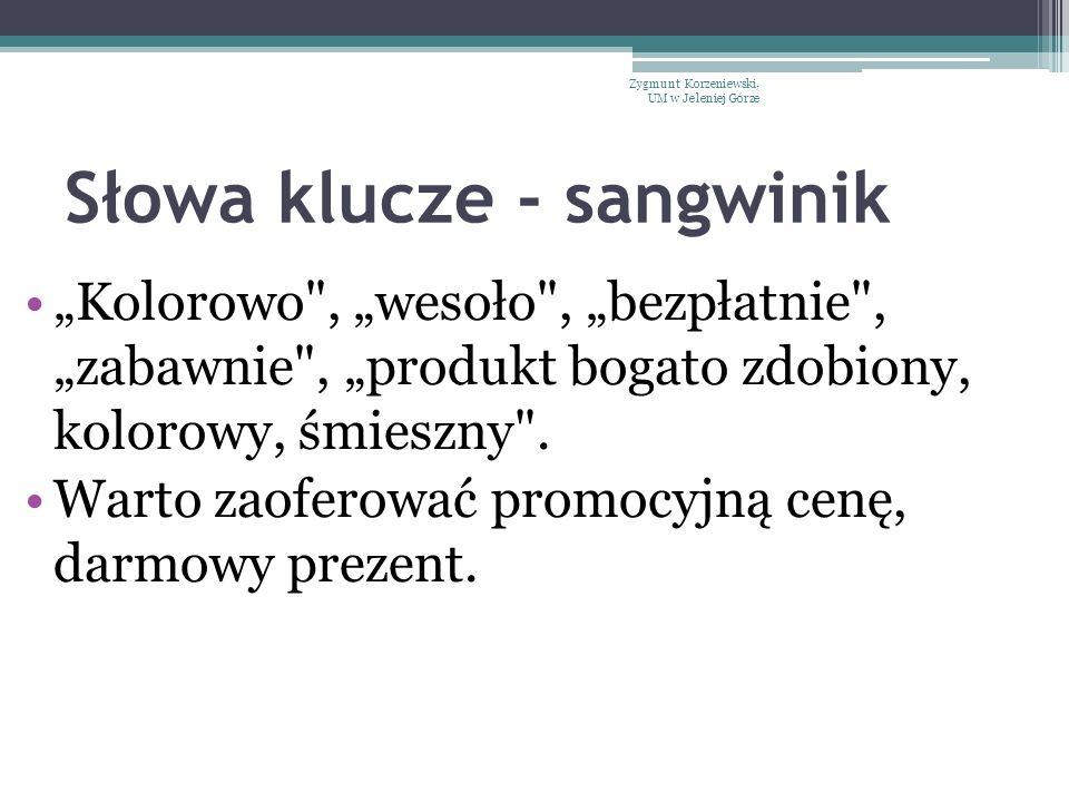 """Słowa klucze - sangwinik """"Kolorowo"""