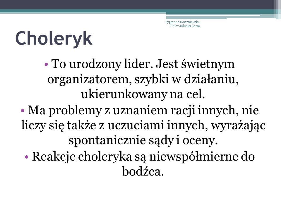 Choleryk Jak wygląda władczy choleryk.Nie cechuje go zbytnia dbałość o wygląd.