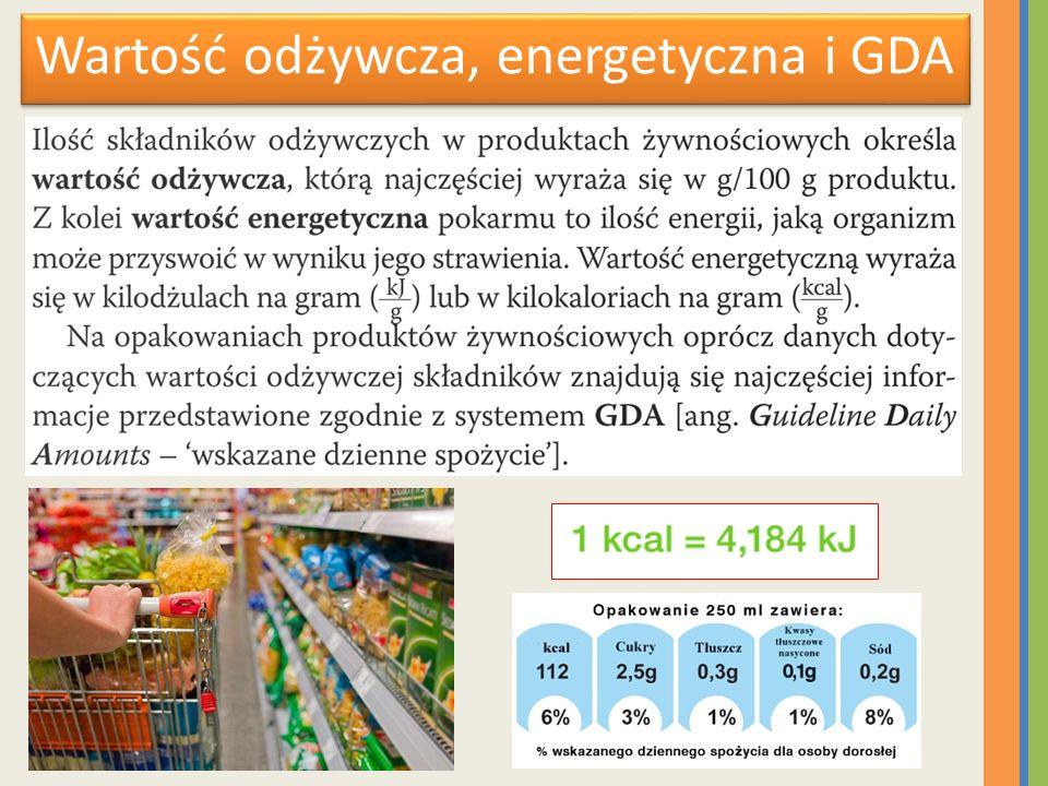 Wartość odżywcza, energetyczna i GDA