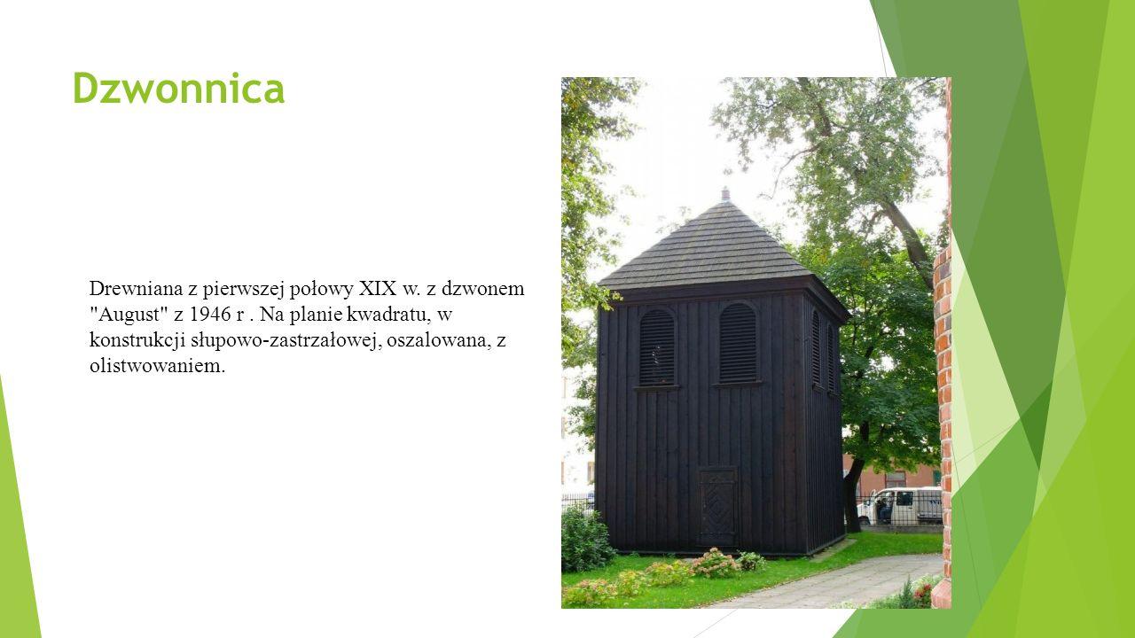 Dzwonnica Drewniana z pierwszej połowy XIX w.z dzwonem August z 1946 r.