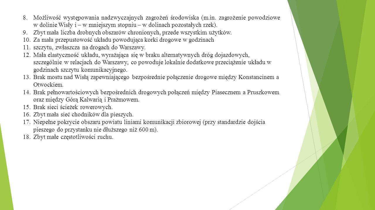 8.Możliwość występowania nadzwyczajnych zagrożeń środowiska (m.in.