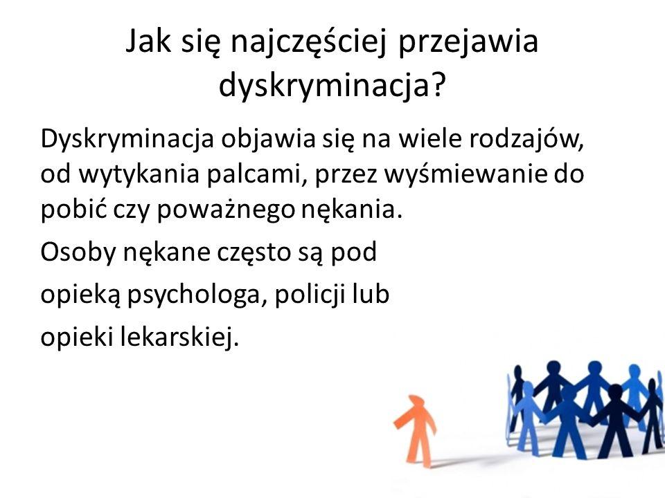 Jak zapobiegać dyskryminacji.