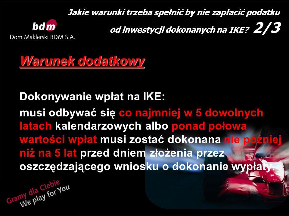 Jakie warunki trzeba spełnić by nie zapłacić podatku od inwestycji dokonanych na IKE.