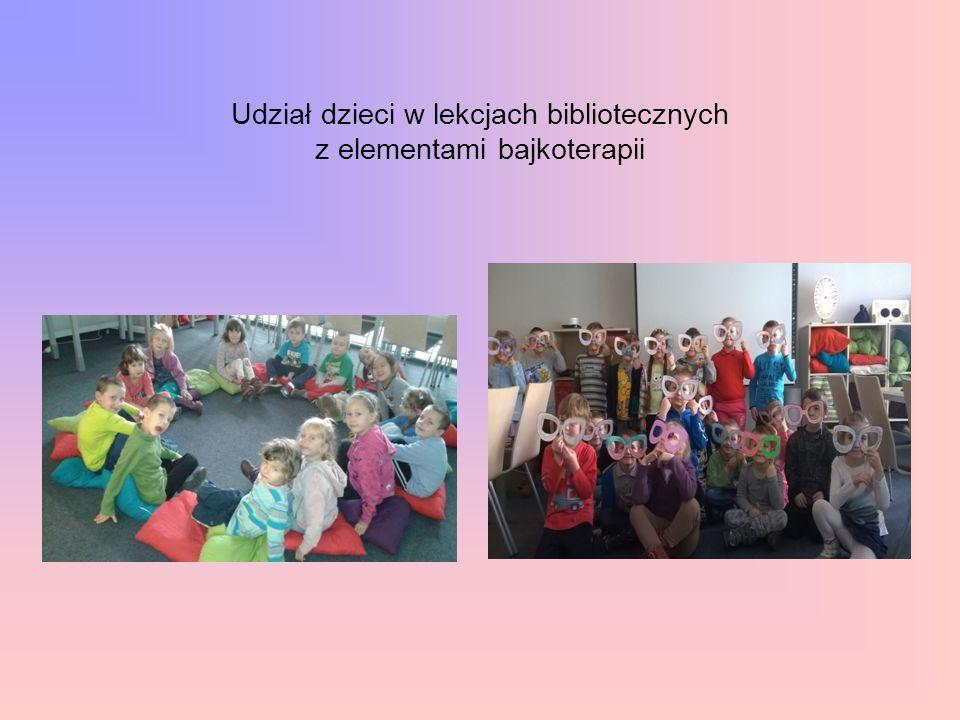 Udział dzieci w lekcjach bibliotecznych z elementami bajkoterapii