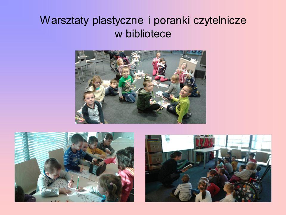 Warsztaty plastyczne i poranki czytelnicze w bibliotece