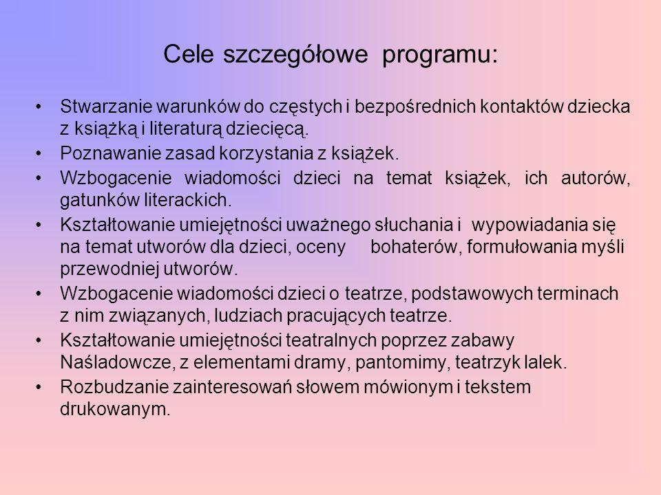 Efekty realizacji programu edukacji literackiej pt.