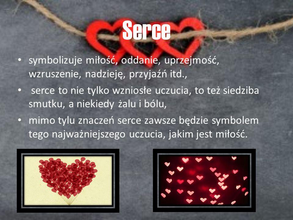 Serce symbolizuje miłość, oddanie, uprzejmość, wzruszenie, nadzieję, przyjaźń itd., serce to nie tylko wzniosłe uczucia, to też siedziba smutku, a nie