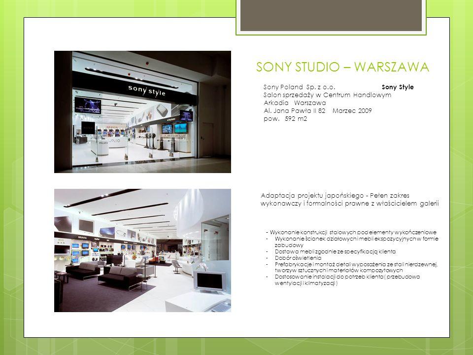 SONY STUDIO – WARSZAWA Sony Poland Sp. z o.o.