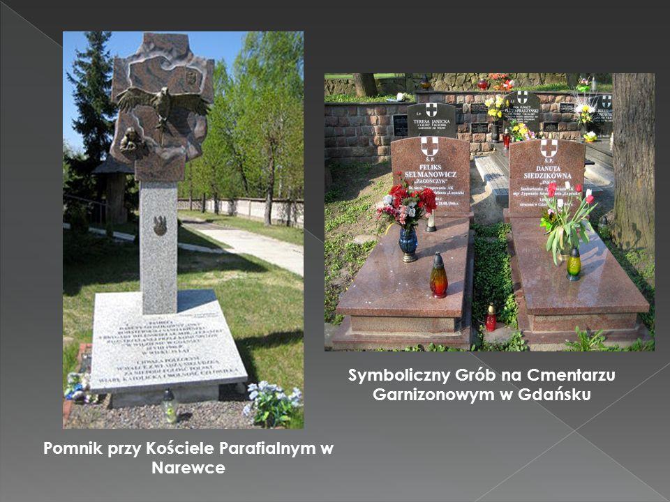 Symboliczny Grób na Cmentarzu Garnizonowym w Gdańsku Pomnik przy Kościele Parafialnym w Narewce