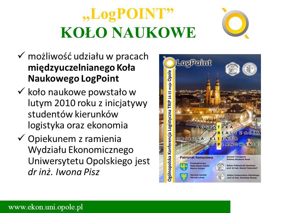"""""""LogPOINT"""" KOŁO NAUKOWE możliwość udziału w pracach międzyuczelnianego Koła Naukowego LogPoint koło naukowe powstało w lutym 2010 roku z inicjatywy st"""