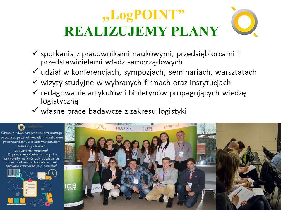 """"""" LogPOINT"""" REALIZUJEMY PLANY spotkania z pracownikami naukowymi, przedsiębiorcami i przedstawicielami władz samorządowych udział w konferencjach, sym"""